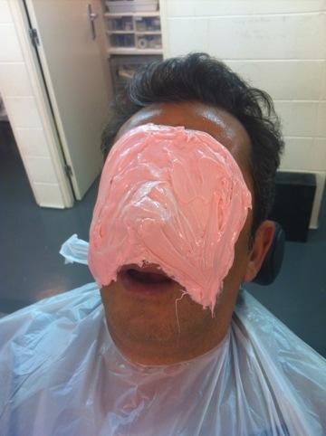 La cara con mascarilla