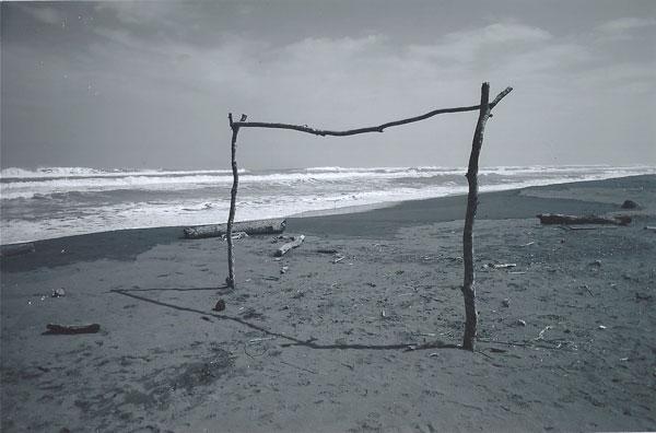 Una playa...