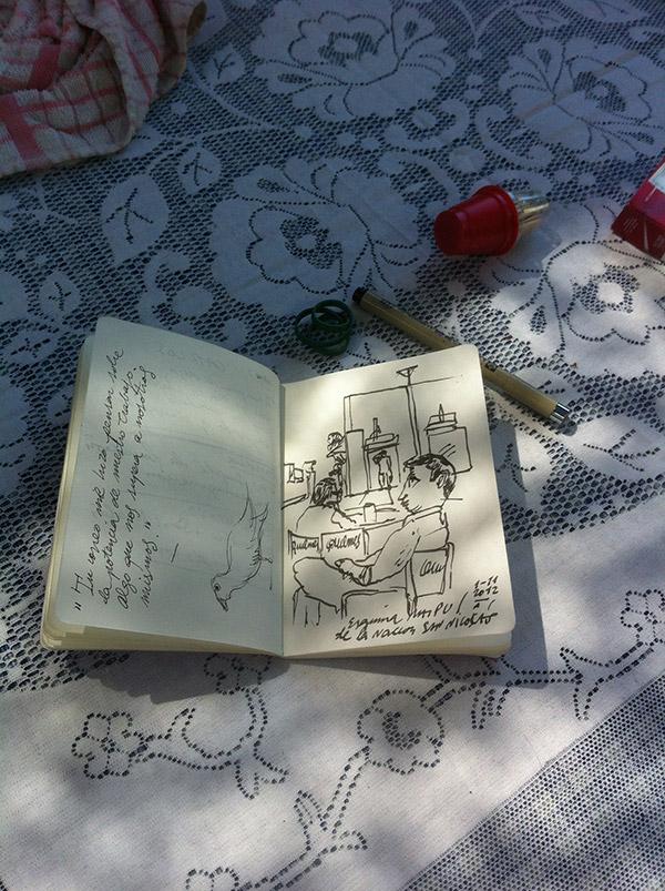 Dibujando y tomando notas en Argentina