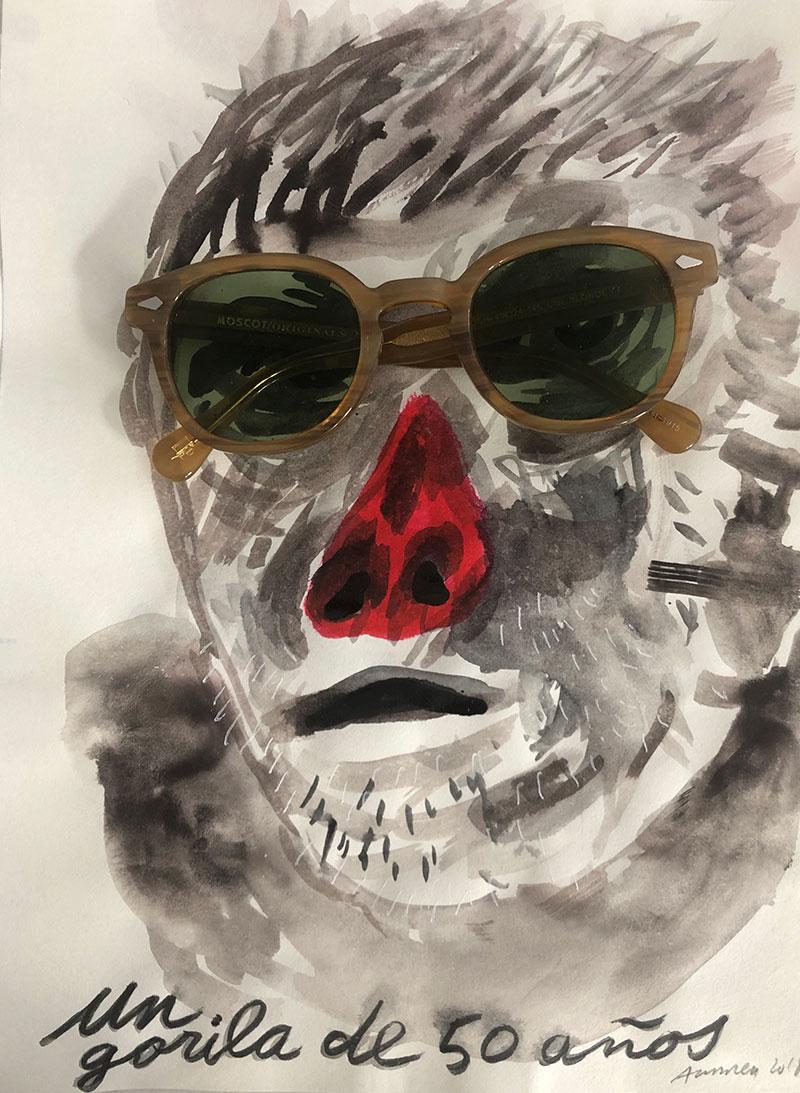 Un gorila de 50 años