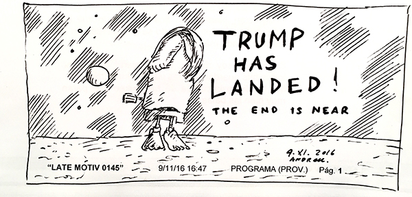 Trump has landed